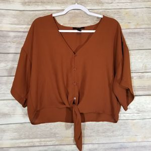Forever 21 Knot Blouse